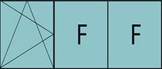 Composition de trois parties avec un vantail en ouverture à la française à gauche oscillo-battante - grille de ventilation BASIC AIR PLUS et deux parties fixes.