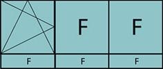 Composition de trois parties avec un vantail en ouverture à la française à gauche oscillo-battante - grille de ventilation BASIC AIR PLUS, deux parties fixes et trois allèges vitrées fixes