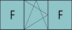 Composition de trois parties avec deux fixes latéraux et un vantail au milieu avec ouverture à la française à gauche oscillo-battante - grille de ventilation BASIC AIR PLUS