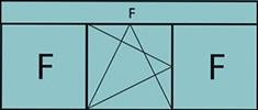 Composition 3parties avec 2fixes latéraux, 1vantail au milieu avec ouverture à la française à gauche oscillo-battante, grille de ventilation BASIC AIR PLUS & imposte vitrée fixe sur toute la largeur