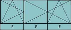 Composition de 2parties: 1vtl à gauche ouverture à la française à gauche oscillo-battante, 2vtx ouverture à la française oscillo-battante, grille de ventilation BASIC AIR PLUS & 3allèges vitrées fixes