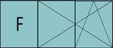 Composition de deux parties avec un fixe à gauche et deux vantaux en ouverture à la française oscillo-battante - grille de ventilation BASIC AIR PLUS