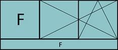 Composition de deux parties avec un fixe à gauche, deux vantaux en ouverture à la française oscillo-battant – grille de ventilation BASIC AIR PLUS et allège vitrée fixe sur toute la largeur