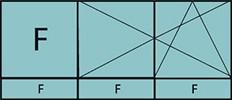 Composition de deux parties avec un fixe à gauche, deux vantaux en ouverture à la française oscillo-battant – grille de ventilation BASIC AIR PLUS et trois allèges vitrées fixes