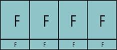 Composition de quatre parties fixes avec quatre allèges vitrées fixes.
