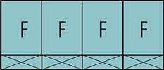Composition de quatre parties fixes avec quatre allèges pleines fixes