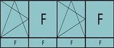 Compo de 4parties:1vtl à gauche ouverture à la française à gauche oscillo-B, 1fixe,1vtl ouverture à la française à gauche oscillo-B, grille de ventilation BASIC AIR PLUS 1fixe& 4allèges vitrées fixes