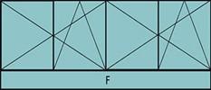 Composition de deux parties de deux vantaux avec ouverture à la française oscillo-battante - grille de ventilation BASIC AIR PLUS et allège vitrée fixe sur toute la largeur