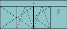 Compo de 4parties : 2vtx à gauche ouverture à la française oscillo-B, 1vantail ouverture à la française à droite oscillo-B, grille de ventilation BASIC AIR PLUS,1fixe à droite & 1imposte vitrée fixe