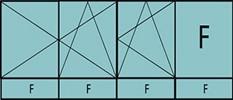 Compo de 3parties:2vantaux à gauche ouverture à la française oscillo-B, 1vantail ouverture à la française à droite oscillo-B, grille de ventilation BASIC AIR PLUS,1fixe & 4allèges vitrées fixes