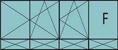 Compo de 3parties:2vantaux à gauche ouverture à la française oscillo-B, 1vantail ouverture à la française à droite oscillo-B, grille de ventilation BASIC AIR PLUS,1fixe à droite&4allèges pleines fixes