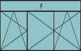 Compo de 2parties :1vantail à gauche ouverture à la française à gauche oscillo-battante, 2vantaux ouverture à la française oscillo-battante, grille de ventilation BASIC AIR PLUS & 1imposte vitrée fixe