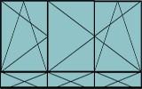 Compo de 2parties :1vantail à gauche ouverture à la française à gauche oscillo-battante,2vantaux ouverture à la française oscillo-battante, grille de ventilation BASIC AIR PLUS & soubassements pleins