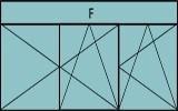 Compo de 2parties : 2vtx à gauche ouverture à la française oscillo-B, 1vtl ouverture à la française à droite oscillo-B, grille de ventilation BASIC AIR PLUS & 1imposte vitrée fixe sur la largeur