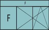 Compo de deux parties avec un fixe à gauche, deux vantaux à droite en ouverture à la française oscillo-battante - grille de ventilation BASIC AIR PLUS et une imposte vitrée fixe