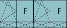 Compo de 4parties : 1vtl à gauche ouverture à la française à gauche oscillo-B, 1fixe,1vtl ouverture à la française à gauche oscillo-B, grille de ventilation BASIC AIR PLUS,1fixe & soubassements pleins