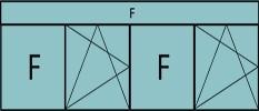 Compo de 5parties: 1fixe,1vtl ouverture à la française à gauche oscillo-B, 1fixe,1vtl à droite ouverture à la française à gauche oscillo-B, grille de ventilation BASIC AIR PLUS & imposte vitrée fixe