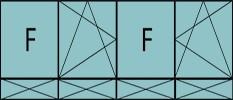 Compo de 4parties: 1fixe, 1vtl ouverture à la française à gauche oscillo-B, 1fixe,1vtl à droite ouverture à la française à gauche oscillo-B, grille de ventilation BASIC AIR PLUS & soubassements pleins