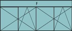 Composition de deux parties de deux vantaux avec ouverture à la française oscillo-battante - grille de ventilation BASIC AIR PLUS et imposte vitrée fixe sur toute la largeur
