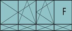 Compo de 3parties : 2vantaux à gauche ouverture à la française oscillo-B, 1vantail ouverture à la française à droite oscill-B, grille de ventilation BASIC AIR PLUS, 1fixe & soubassements pleins