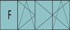 Composition de 4 parties : 1fixe à gauche, 1vantail en ouverture à la française à gauche oscillo-battante & 2vantaux ouverture à la française oscillo-battante - grille de ventilation BASIC AIR PLUS