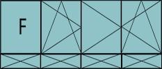 Compo 4 parties : 1fixe à gauche, 1vtl ouverture à la française à gauche oscillo-B, 2vtx à droite avec ouverture à la française oscillo-B, grille de ventilation BASIC AIR PLUS & soubassements pleins