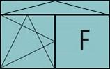 Composition de deux parties avec un vantail en ouverture à la française à gauche oscillo-battante - grille ventilation BASIC AIR PLUS, un fixe à droite et une imposte à soufflet sur toute la largeur