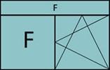 Composition de 2 parties avec une partie fixe à gauche, un vantail en ouverture à la française à droite oscillo-battante-grille ventilation BASIC AIR PLUS et imposte vitrée fixe sur toute la largeur