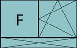 Composition de 2 parties avec 1 partie fixe à gauche, un vantail en ouverture à la française à droite oscillo-battante - grille de ventilation BASIC AIR PLUS et allège pleine fixe sur toute la largeur