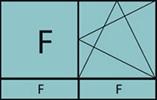 Composition de 2 parties avec 1 partie fixe à gauche, un vantail en ouverture à la française à droite oscillo-battante – grille de ventilation BASIC AIR PLUS et 2 allèges vitrées fixes